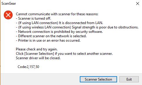 Scanner error