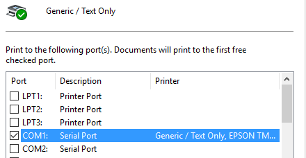 Generic Text Printer
