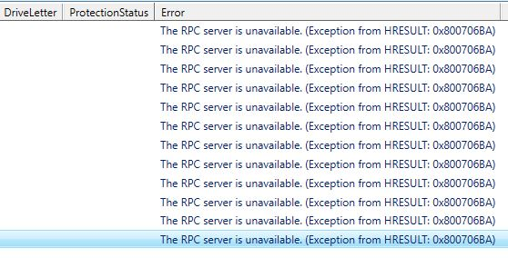 RPC Error ?