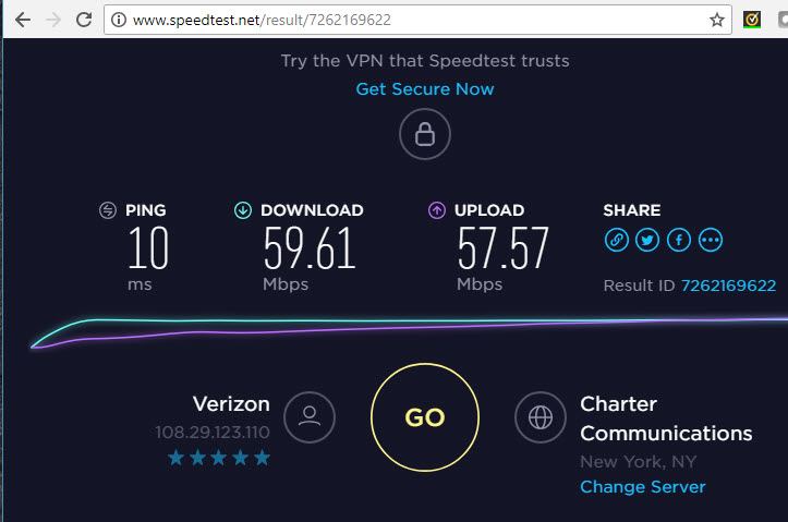 Any known fix for slow upload speed using Fios Quantum G1100