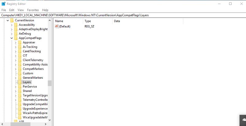 registry screen shot