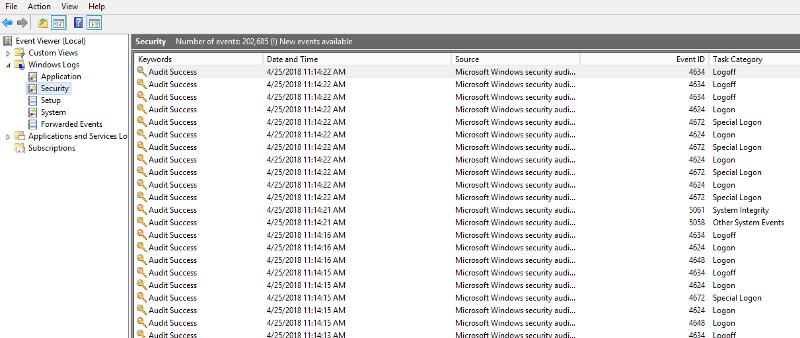 Windows logs