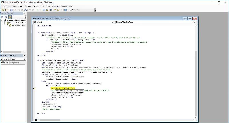 Screen Capture of Editor