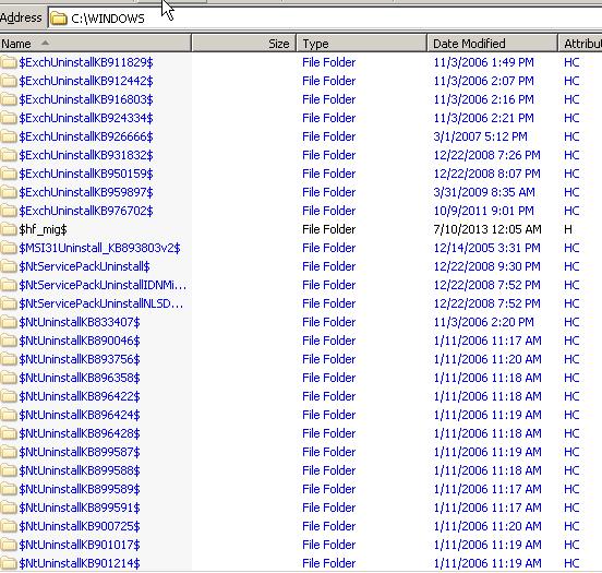 NTUninstall folders 2