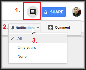 Shared doc on docs google com: Not receiving notifications