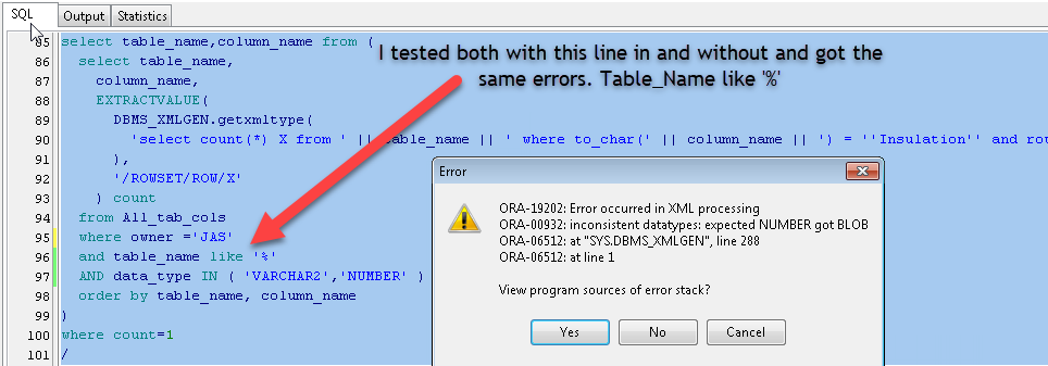 Rules for embedding code in SQL in just the right place  PL