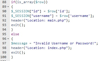 Login Code