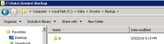Folder B remaining