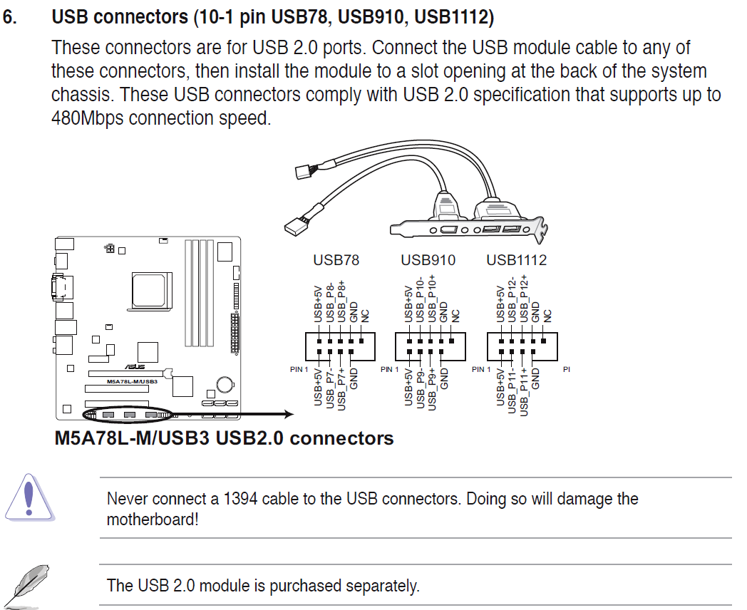 Keyboard And Mouse Do Not Work When Plugged Into Front Panel Usb 20 Motherboard Wire Diagram Module Connectors