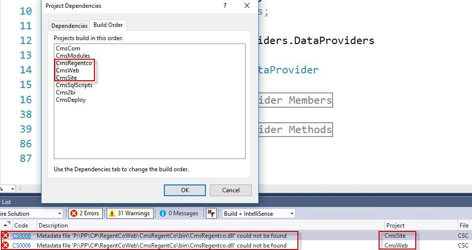 C# compilation error: