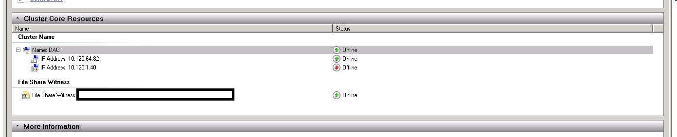 event ID 1069: Cluster resource 'IPv4 Static Address 2 (Cluster
