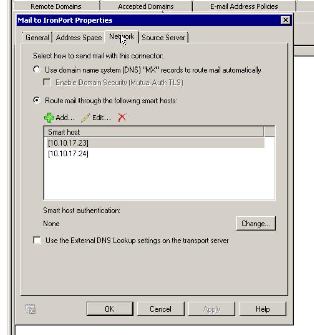 My send org send connector