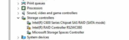 Intel SATA controller conflicts