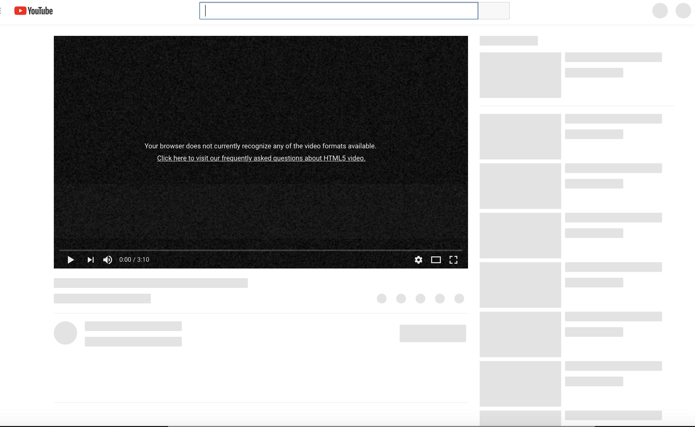Youtube gives error on Safari browser