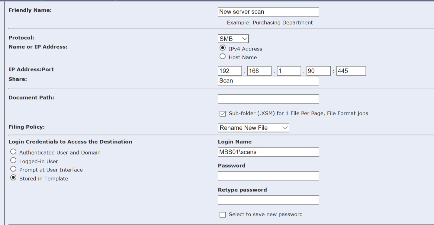 Xerox C405 Admin Password