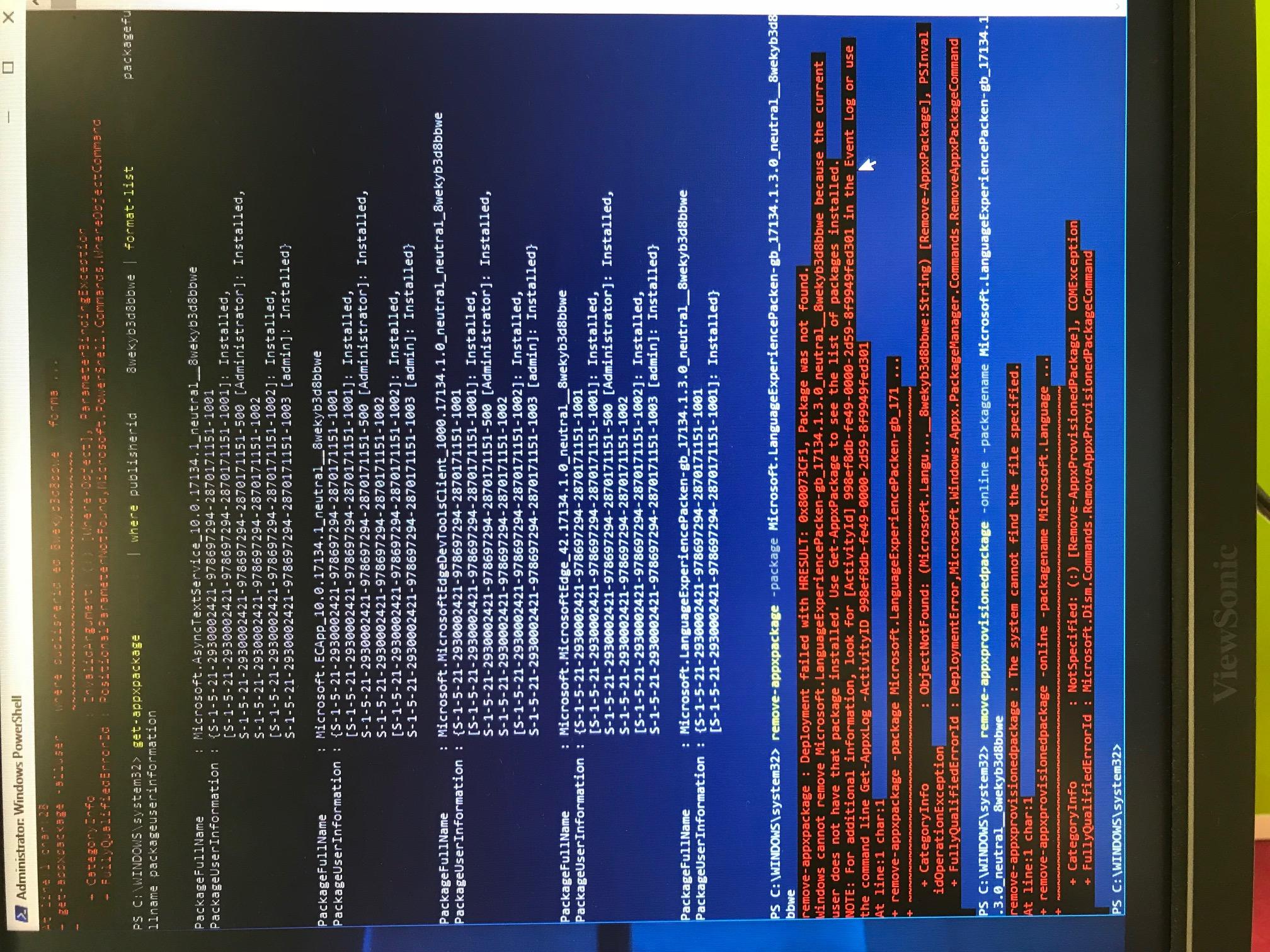 Custom Win10 Pro SysPrep Failing