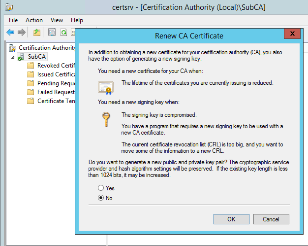 CA Validity Period Extension and CA Certificate Renewal Process