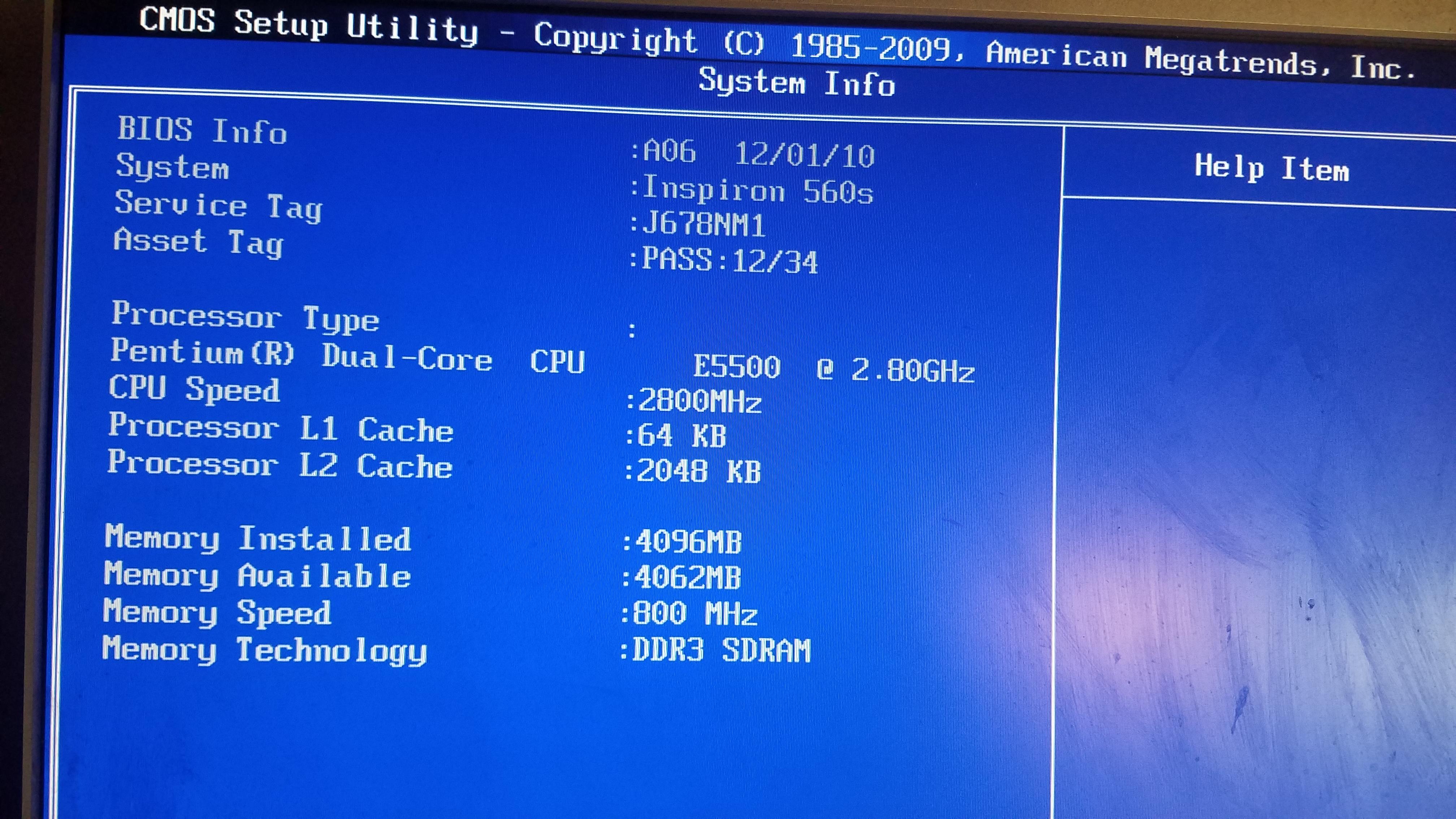 Dell Not Saving BIOS settings