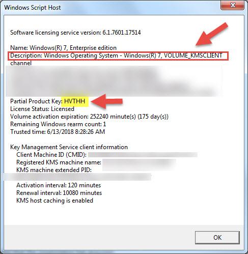 Windows 7 KMS Activation Failing