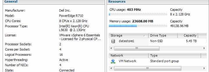 RAID disk fail, VMWare 6, DELL R720