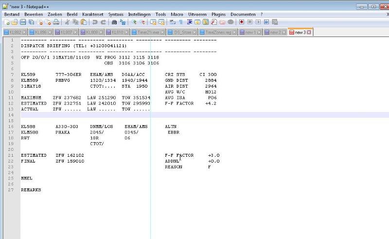 Example  in notepad style of the intended use