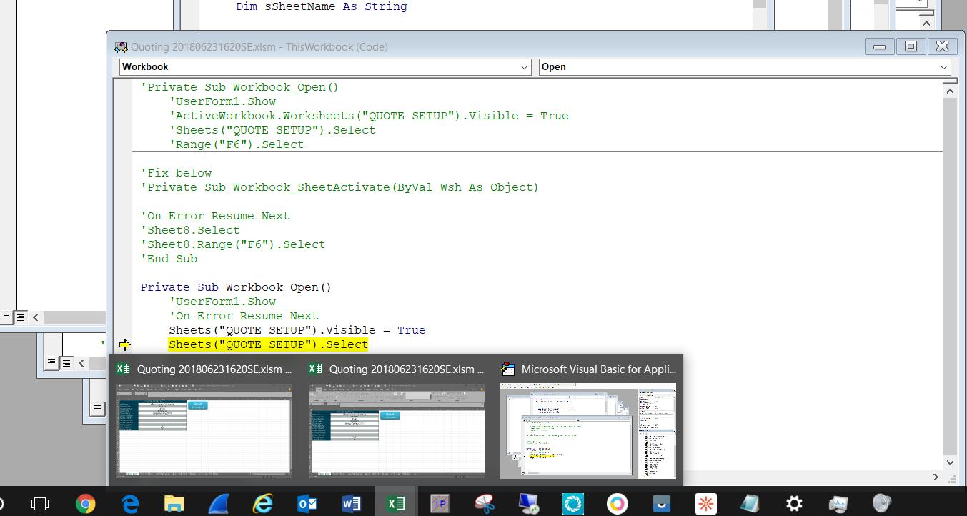 Run-time error '1004' Select method of Worksheet class failed