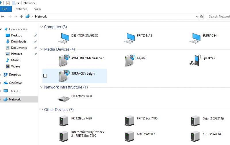 Network in File Explorer