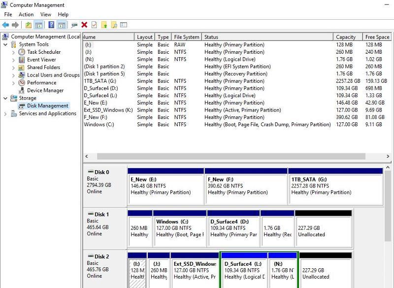 Windows 10 Computer Management
