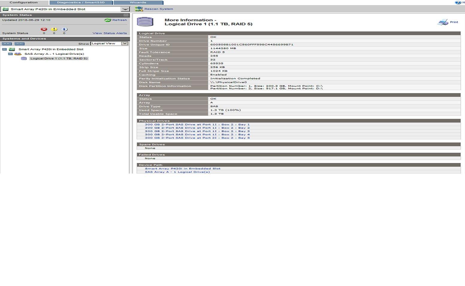 Hp Smart Array P420i Controller Failed