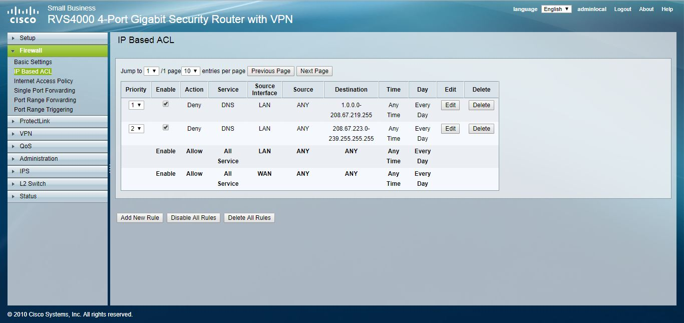 block port 53 traffic and force specific DNS servers using