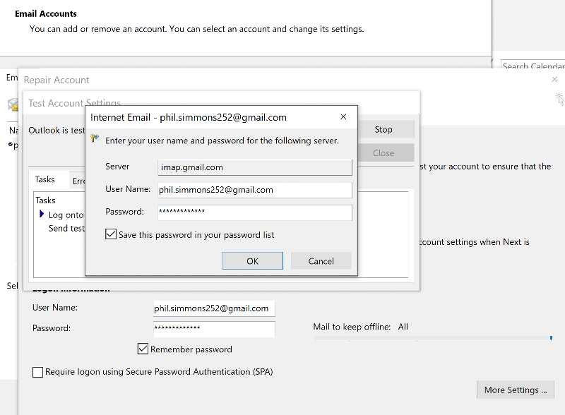 Outlook email error