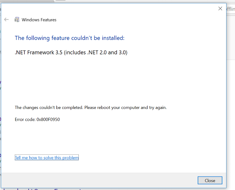 .NET framework 3.5 error