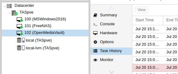 LVM help for a Debian Proxmox installation