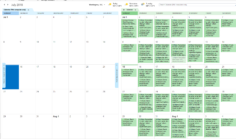 Two Calendars