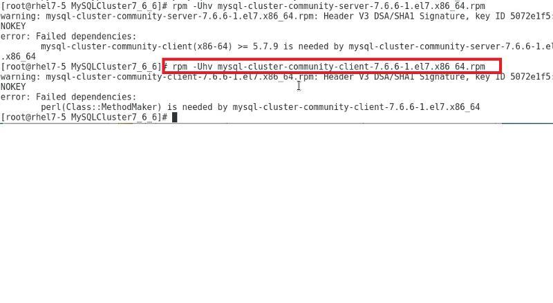 when installing MySQL client