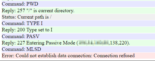 Plain FTP not using specified ports for passive mode