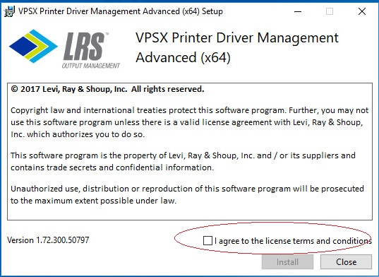 Need to automatically check license agreement option during