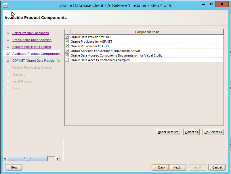 Unable to install Microsoft Driver for Oracle correctly
