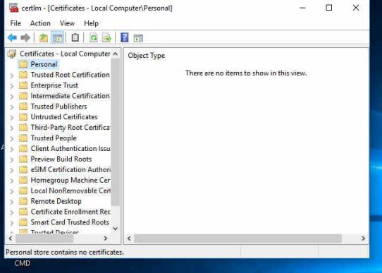 Windows 10 comp certificates