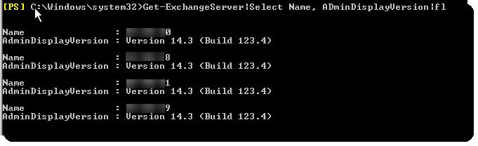 Exchange server version