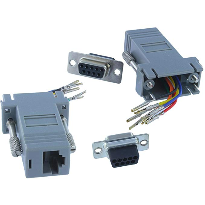 db9 rj45 adapters/connectors/plugs