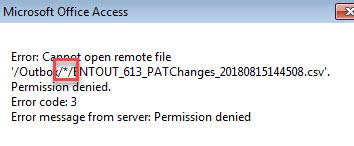 Permission denied error while synchronizing folders