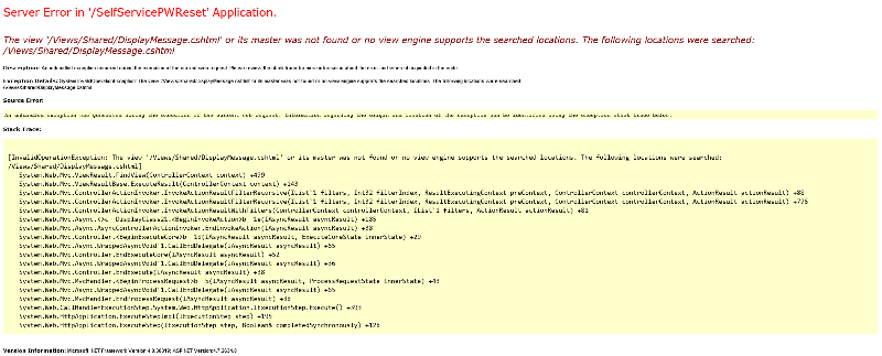 """When trying to submit """"Reset Password"""" (after filling in all inputs, of course), it crashed with the following screenshot (please see attached)."""