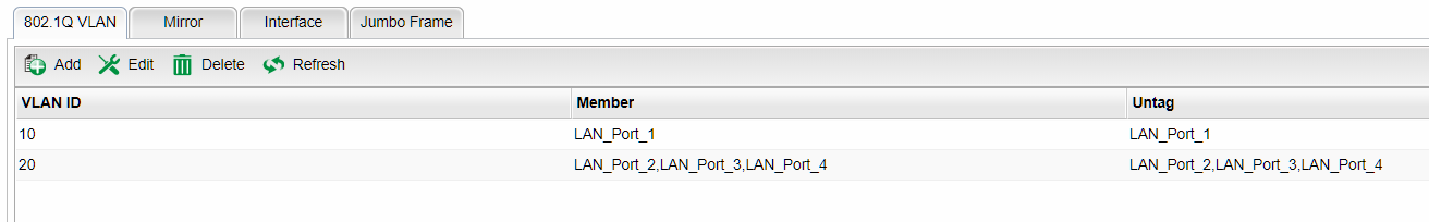How to configure VLAN without tagging on Draytek 2960
