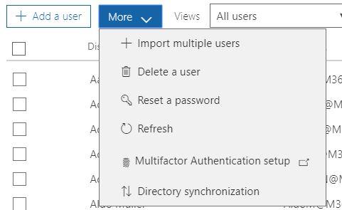 Office 365 directory synchronization.