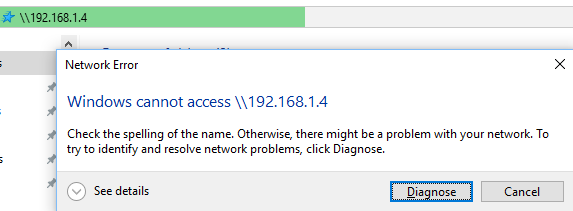 Browsing by IP address - Failed