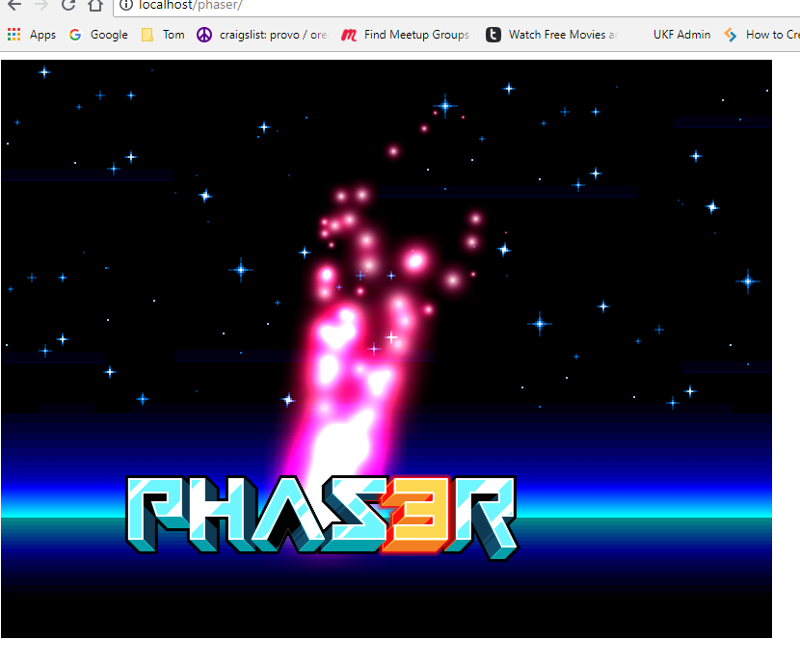 phaser on apache web server