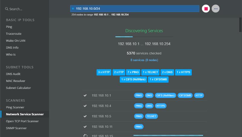 splash page of freeware netcrunch tools 2.0