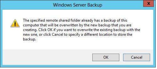 backup image error