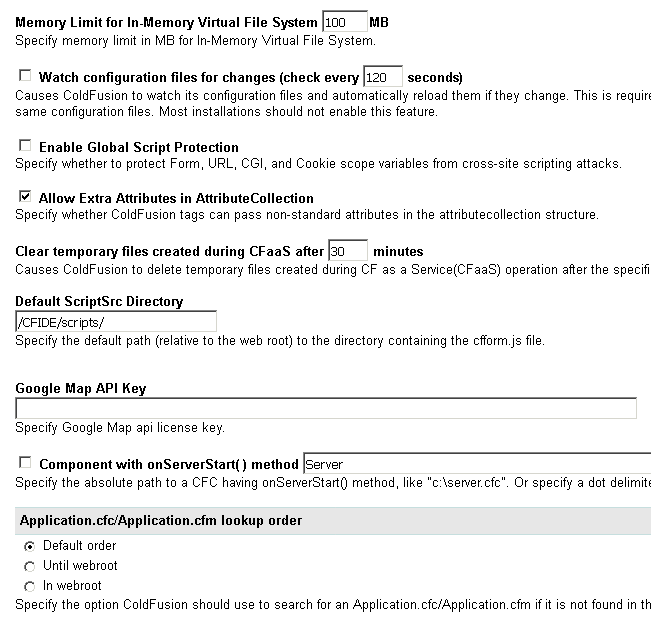 Server Settings Page 2